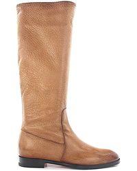 Santoni Boots 56287 Leather Beige - Natural