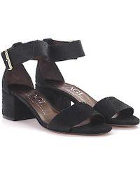 Agl Attilio Giusti Leombruni - Agl Sandals D63101 Ankle Strap Leather Black Finished - Lyst