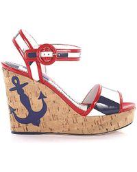 Dolce & Gabbana Platform Sandals - Blue