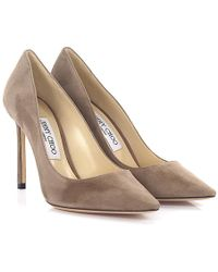 Jimmy Choo - Court Shoes Romy 100 Suede Mocca - Lyst