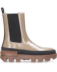 Moncler Chelsea Boots Coraylne Patent Leather - Natural