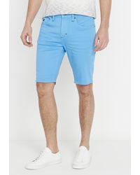 Buffalo David Bitton Parker X Short Shorts - Blue