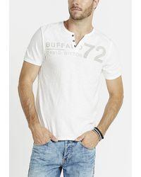 Buffalo David Bitton Narwayne Short Sleeve Henley Knit Shirt - White