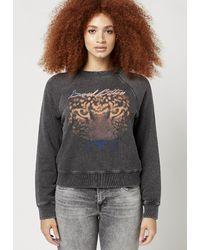 Buffalo David Bitton Cozy Away Vintage Sweatshirt - Kt1952 - Gray