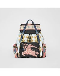 Burberry - Multicolour Large Archive Scarf Print Backpack - Lyst