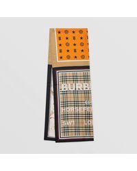 Burberry Foulard en soie à imprimé montage - Multicolore