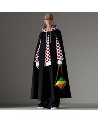 Burberry - Long Doeskin Wool Cape - Lyst
