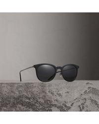 b35ae5468c31 Lyst - Burberry Men s Be4232 56mm Sunglasses in Black for Men