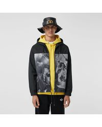 Burberry Rave Print Nylon Hooded Jacket - Schwarz