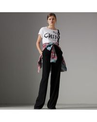 Burberry - Fish And Chips Print Cotton T-shirt - Lyst