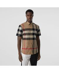 Burberry Sumerton Short Sleeved Shirt - Multicolour