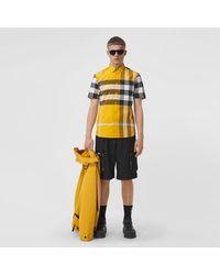 Burberry Short-sleeve Check Stretch Cotton Poplin Shirt - Multicolour