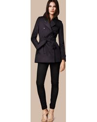 Burberry The Kensington – Short Heritage Trench Coat Navy - Black