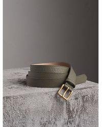 Burberry - Embossed Leather Belt - Lyst