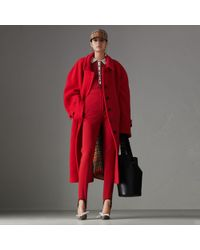 Burberry - Double-faced Wool Cashmere Oversized Car Coat - Lyst