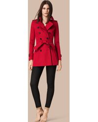 Burberry - The Chelsea – Short Heritage Trench Coat Parade Red - Lyst