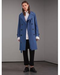 burberry trench coat outlet online t9zg  Burberry  Tropical Gabardine Cotton Trench Coat  Lyst