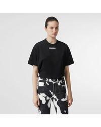 Burberry - Unicorn Print Cotton Oversized T-shirt - Lyst