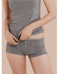 Burberry Stretch Cotton Lyocell Boxer Briefs - Gray