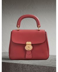 Burberry - The Medium Dk88 Top Handle Bag Antique Red - Lyst