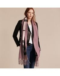 Burberry Helene Wool and Cashmere-Blend Stole - Pink