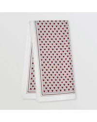Burberry Monogram And Heart Print Cashmere Scarf - Multicolor