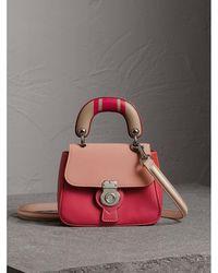 Burberry - The Mini Dk88 Top Handle Bag With Geometric Print - Lyst