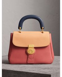 Burberry - The Medium Dk88 Top Handle Bag Blossom Pink/pale Clementine - Lyst