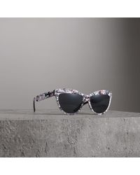 Burberry - Doodle Cat-eye Frame Sunglasses - Lyst