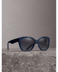 efb90544647 Lyst - Burberry Sunglasses Be4222f 301387 Blue 55mm in Blue