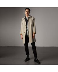 Burberry - The Camden - Long Car Coat In Sandstone - Men | - Lyst