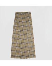 Burberry - Écharpe en laine et soie mélangées à motif Vintage check  métallisé - Lyst 807c7bb63af