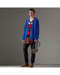Burberry - Reissued Striped Wool Cardigan - Lyst