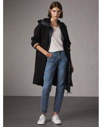 Burberry - The Camden – Long Car Coat In Black - Women | - Lyst