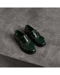 Burberry - Kiltie Fringe Leather Loafers - Lyst