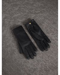 Burberry - Deerskin Gloves - Lyst