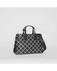 Burberry - Medium Leather Link Print Banner Bag - Lyst
