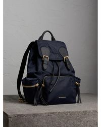 Paul SmithThe Medium Rucksack in Technical Nylon and Leather