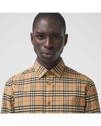 Burberry Hemd aus Stretchbaumwolle mit kleinteiligem Karomuster - Mehrfarbig