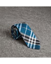 Burberry - Modern Cut Check Silk Tie - Lyst
