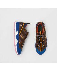 Burberry Union-Sportschuhe aus Nylon und Mesh-Gewebe - Blau