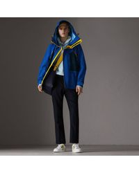 Burberry - Tri-tone Nylon Hooded Jacket - Lyst
