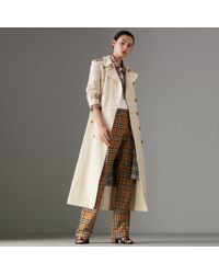 Burberry - Cotton Linen Canvas Trench Coat - Lyst