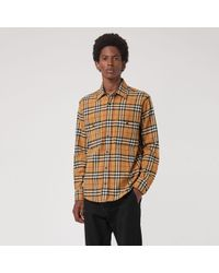 Burberry - Lyndhurst Check Flannel Shirt - Lyst