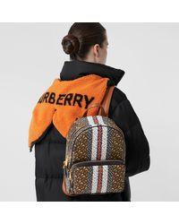 Burberry - Tb Monogram E-canvas Backpack - Lyst