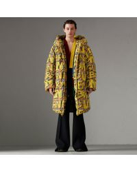 Burberry - Graffiti Vintage Check Down-filled Puffer Coat - Lyst
