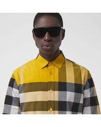 Burberry - Check Stretch Cotton Poplin Shirt - Lyst