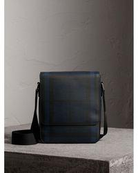 Burberry - London Check Crossbody Bag Navy/black - Lyst