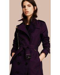 Burberry Trench-coat en gabardine de coton - Noir