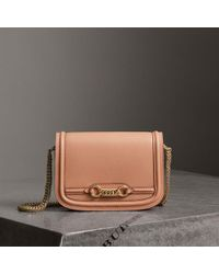 7764dfe4ece7 Lyst - Burberry The Small Buckle Tote In Two-tone Leather